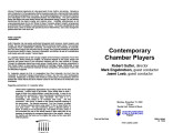 2004-11-15 Contemporary Chamber Players [recital program]