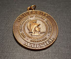 [UNCG bronze-colored marshall medal, ca. 1997]