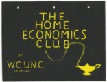 [The Home Economics Club scrapbook]