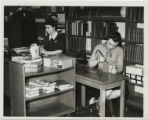 Library workers working in Carnegie Library