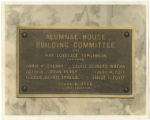 [Alumnae House plaque]