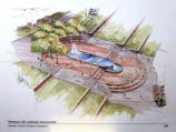 Architectural Drawing of Fountain Plaza