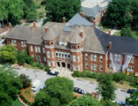 Aerial view of Foust Building