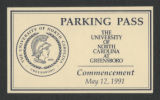 Card - Commencement Parking Pass...