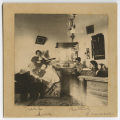 [Four Students in a Dorm Room, 1890s]