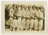 [Eight Students Standing in a Row, Late 1920s]