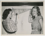 [Students Hanging College Flag, Late 1940s ]