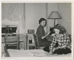 [Two Students Studying in a Dorm Room, 1952]