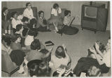 [Students Watching Televised Baseball Game, 1953]
