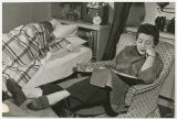 [Student Studying in Dorm Room, 1955]