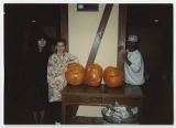 [Three Students and Three Jack-o-lanterns, 1987]