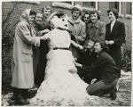 [Students Making a Snowman, 1952]