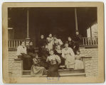 [Group photo at McIver Cottage, 1894]