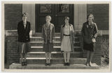 [Four Students on Steps, 1929]