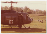 [Medical Emergency Helicopter on Campus, 1976]