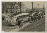 [Students Leaving Campus for the Holidays, Early 1940s]