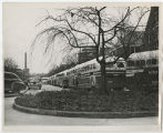 [Buses on Campus before Holiday Break, 1949]