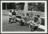 [Students Beside a Fountain, n.d.]