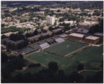 [Aerial view of soccer stadium]