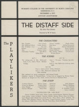 The distaff side [production records]