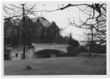 [Bridge over Walker Avenue with the Students Building in the background]