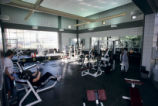 [Student Recreation Center weight room]